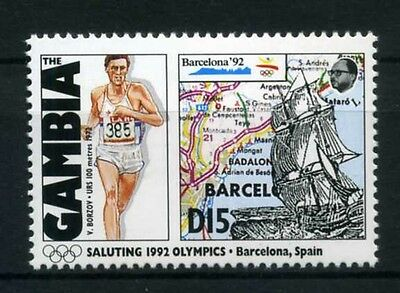Gambia MiNr. 1326 postfrisch/ MNH Olympiade 1992 (Oly479