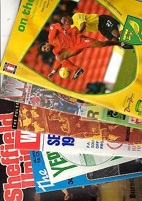 8 x Non League in the Cup Programmes 1975 - 2003 Listed 78
