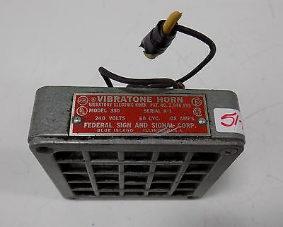 Federal Sign And Signal Corp. 240V 60 Cyc. .08A Vibratone Horn Model 350