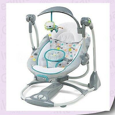 Ingenuity Convertme Swing 2 Seat Ridgedale Foldable Baby Gear Playing Toy 10215