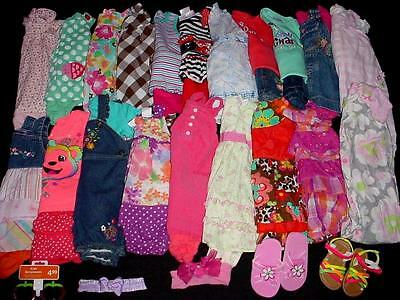 40pcs USED BABY GIRL 6-9 9 12 MONTHS SPRING SUMMER CLOTHES LOT
