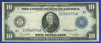 1914 $10 Large Blue Seal MINNEAPOLIS Federal Reserve Note!