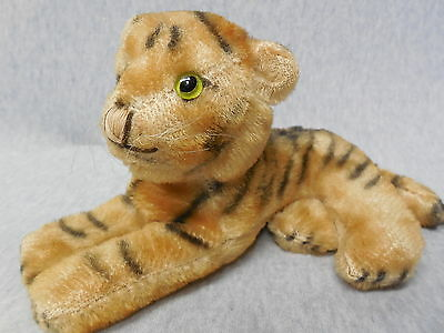 Vintage Steiff Tiger Hard Body Mohair Glass Eyes j505