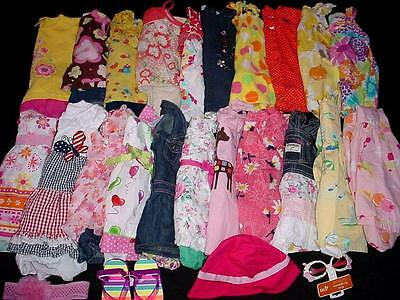 42pcs USED BABY GIRL  12 18 MONTHS SPRING SUMMER CLOTHES LOT