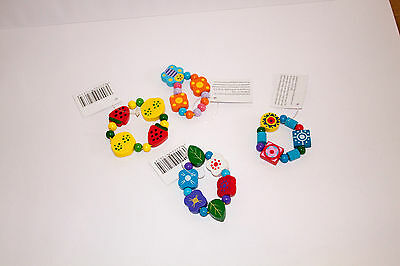 Wooden girls bracelet, assorted designs bnwt