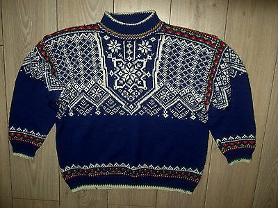 Mint Vintage Norway Traditional Nordic Pure Wool Jumper Sweater Dale Style S
