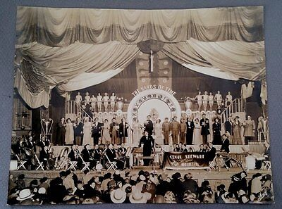 1935 Large Format Photograph of CECIL STEWART AND HIS ORCHESTRA