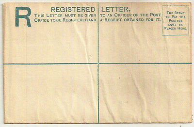 1882 CYPRUS QV TWO PIASTRES PATENT REGISTERED ENVELOPE BLUE MINT H&G 5a SIZE G