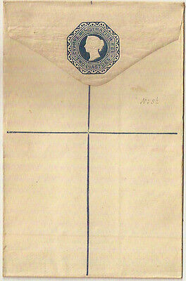1884 CYPRUS QV TWO PIASTRES REGISTERED ENVELOPE BLUE MINT H&G 6a SIZE G