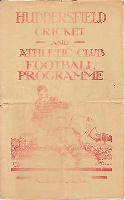 HUDDERSFIELD v ST HELENS. 16/4/1949. SIGNED BY LIONEL COOPER PLUS TWO OTHERS.