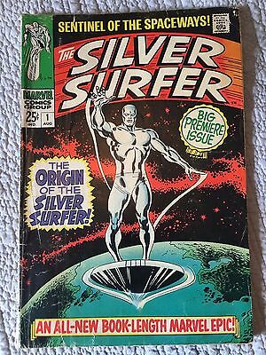 The Silver Surfer #1, 2, 3, 4 & 7 Silver Age Marvel  1st Mephisto - Lower Grade