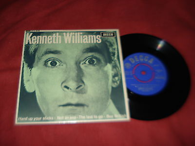 """KENNETH WILLIAMS Hand up your sticks 7"""" EP Spoken word Comedy"""