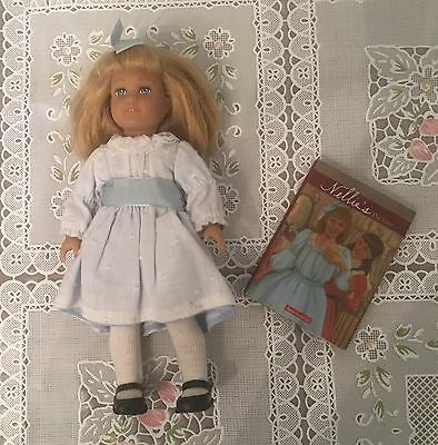 """American girl doll MINI 6"""" Nellie doll with book GUC Retired HTF"""