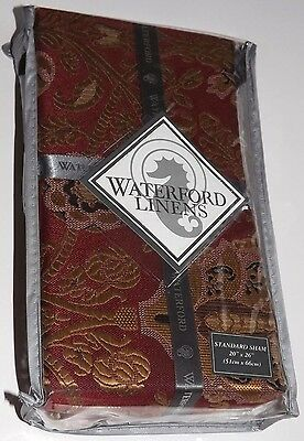 (1) Waterford ALHAMBRA Ruby Standard Pillow Sham New