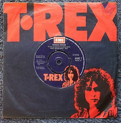 """Marc Bolan And T. Rex Teenage Dream Glam Rock 1970s 7 """" INCH 45RPM"""