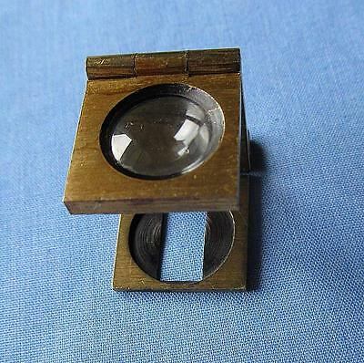 Vintage Miniature Folding Brass Magnifier/Magnifying Glass/Loupe/Field Scope