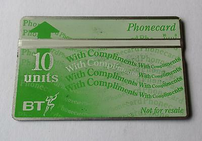 Bt / 10 Unit Complimentary / White Strip Phonecard