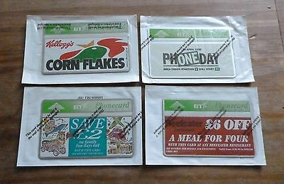 Bt Advertising   /  4 Mint Sealed Phonecards