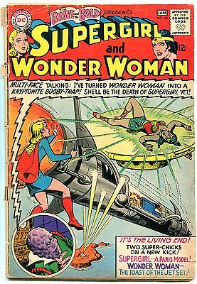 The Brave and the Bold #63 1965- Wonder Woman- Supergirl incomplete