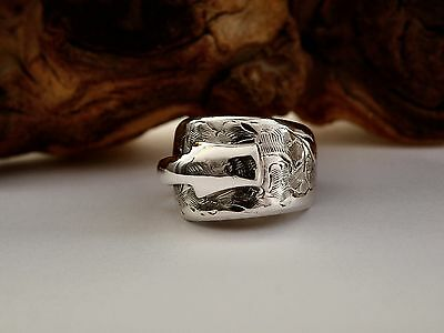 Chunky Pretty Edwardian Solid Silver Spoon Ring 1905 *** The Perfect Gift ***