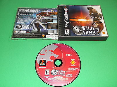 WILD ARMS 2 (Sony PlayStation 1) PS1 * CASE + ART + DISC 2 ONLY (DISC 1 MISSING)