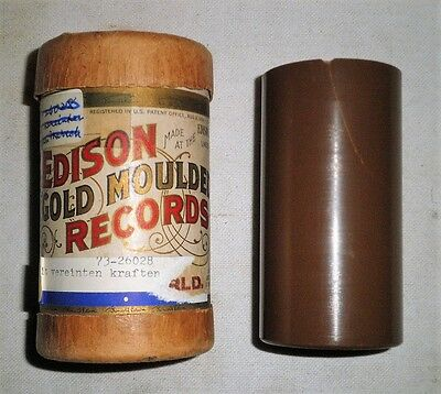 """Edison Brown Wax Cylinder Record """"The Clock of the Universe"""""""