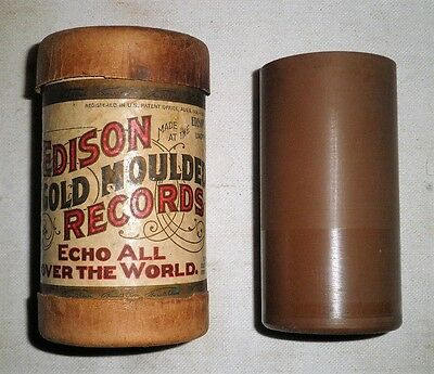 """Edison Brown Wax Cylinder Record """"The Old Oaken Bucket"""""""