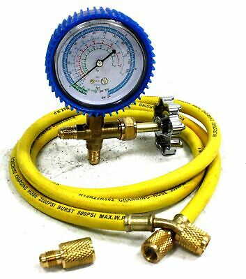 A/C R134a R12 R22 Single Manifold Gauge Kit 4 Testing Charging Air Conditioner