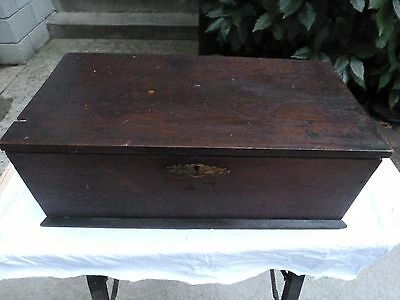 Antique Wood Carpenters Tool Box Phineas Smith New York Primitive