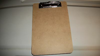 4  -  6 x 9 Clipboards clip board for holding notes, papers , half sheet size.