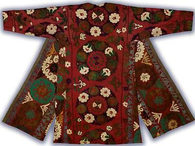 Vintage Gorgeous Uzbek Silk Hand Embroidered Robe From Bukhara T1039