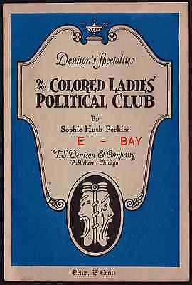 1910 Colored Ladies Political Club Suffragettes Minstrel Perkins Black Sterotype