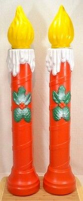 TPI Canada Plastics Christmas CANDLE Holly Berries BLOW MOLD (Set of 2)