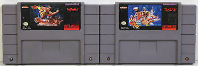 Fatal Fury & Fatal Fury 2 Super Nintendo Snes 1 2 Game Lot **tested & Working**