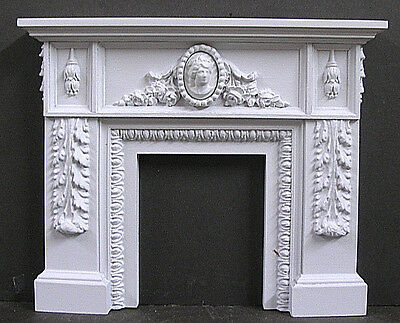CARVED   FIREPLACE ~ 1:12  scale ~Dollhouse~ High Relief Sculpture ~ Room Box