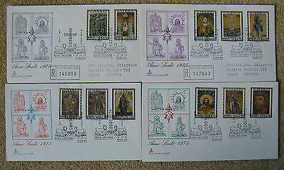 Vatican City.4 X First Day Covers. Dated. 10.12.74 Holy Year (1975)