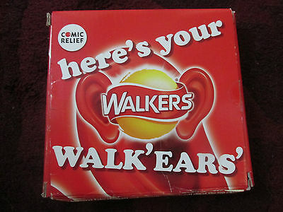 Walkers Red Nose Day Ears - Boxed And Unused 'walk-Ears'