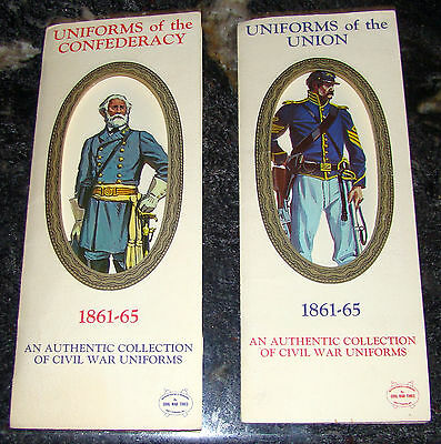 Uniforms of the Confederacy & Uniforms of the Union Card Sets 1960