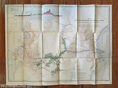 ORIGINAL 1905-10 OCTOBER National Geographic Magazine MAP SUP: PANAMA CANAL