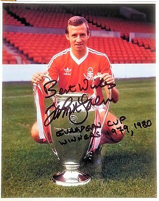 JOHN McGOVERN Signed autograph 10x8 photo Nottingham Forest 1979 1980 European