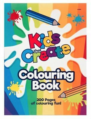 A4 Jumbo Size Kids Colouring Books Learning Fun Anti Stress Therapy 200 Pages