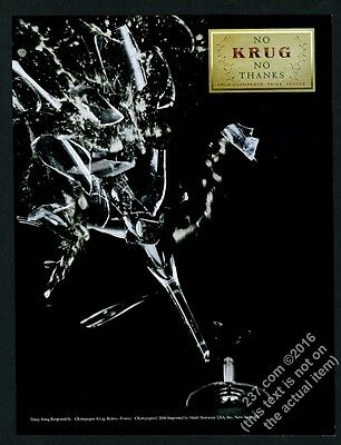 2006 Krug Champagne shattered glass photo vintage print ad