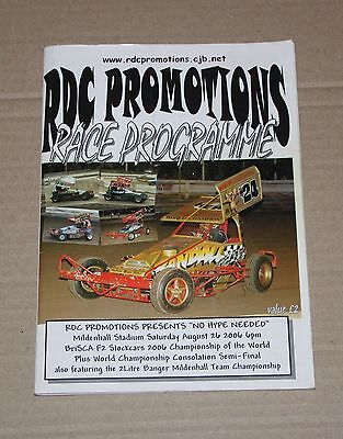 2006 Mildenhall Brisca F2 World Final programme 26 August