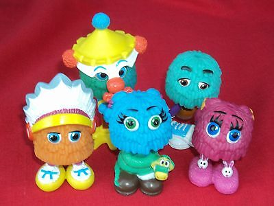 lot of 5 McDonald's Fry Guys toy Figures: Stilts, Feather hat, Basketball snake