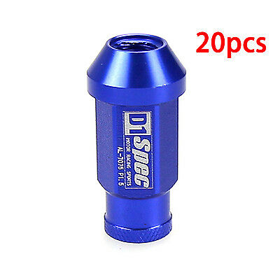 JDM M12x1.5 Blue Extended Aluminum Tuner Wheel Lug Nuts for HONDA CIVIC ACURA
