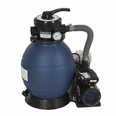 "Pro 2400GPH 13"" Sand Filter Above Ground Swimming Pool Pump 10000GAL"