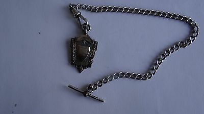 Nice Antique Scottish Sterling Silver Pocket Watch Fob With Chain