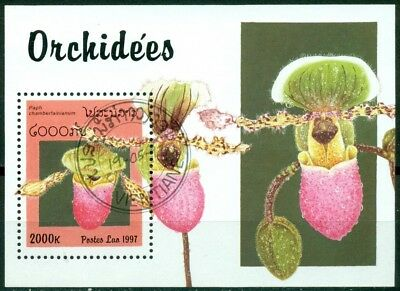 Laos Scott #1328 Used Cancelled Orchids Flora FDC CV$3+