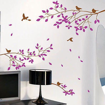 Tree Branches Birds Wall Art / Wall Stickers / Wall Decals / Wall Murals 212