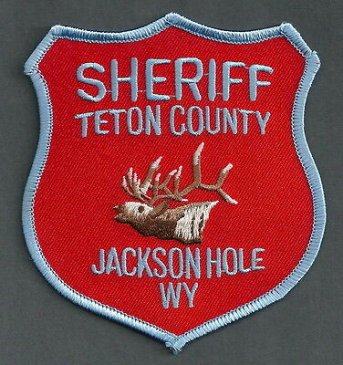 Teton County Sheriff Wyoming Police Patch